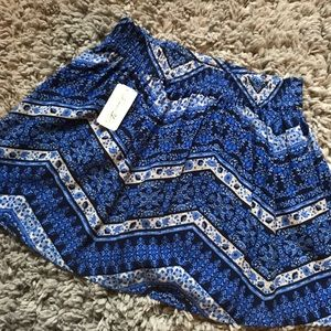forever 21 blue floral skirt - NEW WITH TAGS